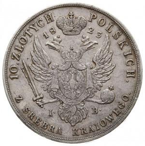 10 złotych 1823, Warszawa, srebro 30.90 g, Plage 26, Bi...