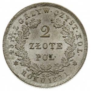 2 złote 1831, Warszawa, odmiana z kropką po wyrazie POL...