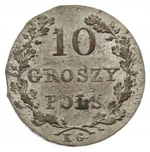 10 groszy 1831, Warszawa, odmiana z zagiętymi łapami Or...