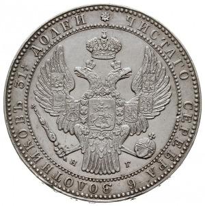 1 1/2 rubla = 10 złotych 1834 HГ, Petersburg, Plage 318...