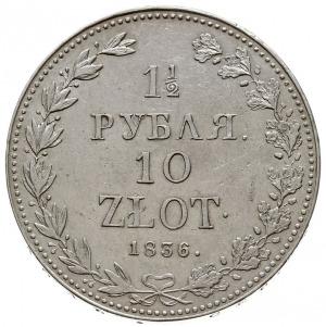 1 1/2 rubla = 10 złotych 1836 MW, Warszawa, Plage 326 -...