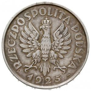 """5 złotych 1925, Warszawa, """"Konstytucja"""", odmiana 100 pe..."""