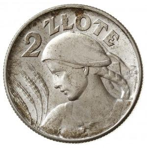 2 złote 1925 - z kropką po dacie, Londyn, Kobieta z kło...
