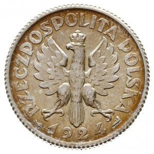 1 złoty 1924, Paryż, Kobieta z kłosami, róg i pochodnia...