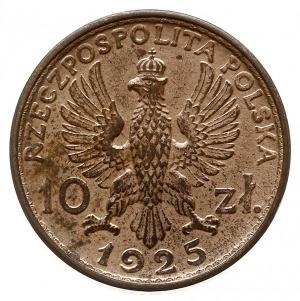 10 złotych 1925, Warszawa, popiersie kobiety i mężczyzn...