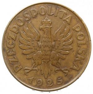 5 złotych 1925, Warszawa, Konstytucja, odmiana z 81 per...