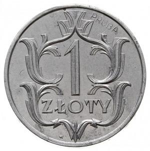 1 złoty 1929, Warszawa, wklęsły napis PRÓBA, aluminium ...
