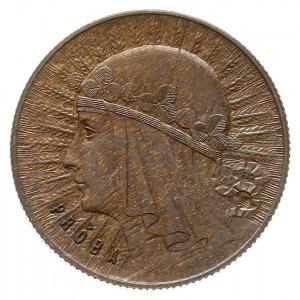 1 złoty 1932, Warszawa, Głowa kobiety, na rewersie wypu...