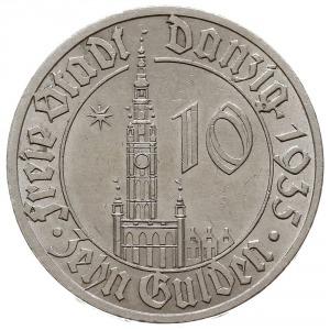 10 guldenów 1935, Berlin, Ratusz Gdański, Jaeger D.20, ...