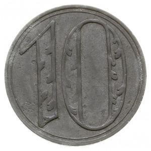 10 fenigów 1920, Gdańsk, odmiana z dużą cyfrą 10, Jaege...