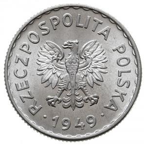 1 złoty 1949, Warszawa, Parchimowicz 212.b, aluminium, ...