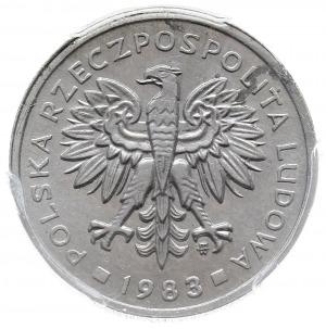2 złote 1983, Warszawa, próba technologiczna w aluminiu...