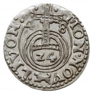 półtorak 1648, Ryga, odmiana ze znakiem wilk (mincerza ...