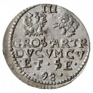 trojak 1598, Mitawa, Iger KUW.98.1.d (R2), Gerbaszewski...