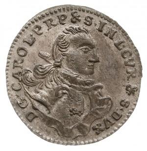 grosz 1762 C-H-S, Mitawa, tarcze herbowe owalne, Gerbas...