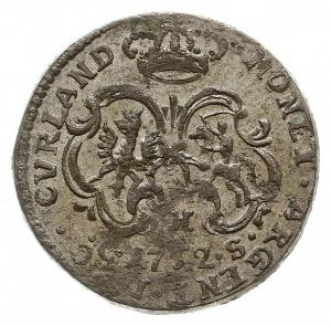 grosz 1762 C-H-S, Mitawa, tarcze herbowe wygięte, Gerba...