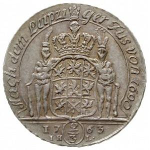 2/3 talara (gulden) 1763, Szczecin, AAJ 240 a, Dav. 772...
