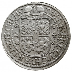 ort 1624, Królewiec, wariant ze znakami menniczymi na k...