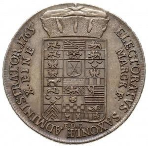 talar 1765, Drezno, srebro 27.85 g, Schnee 1055, Dav. 2...