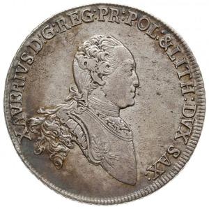 talar 1767 EDC, Drezno, Aw: Popiersie w prawo i napis w...