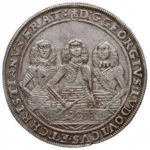 talar 1658, Brzeg, Aw: Trzy popiersie i napis wokoło, R...