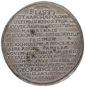 1 1/4 talara pośmiertnego 1675, Brzeg, Aw: Popiersie 3/...
