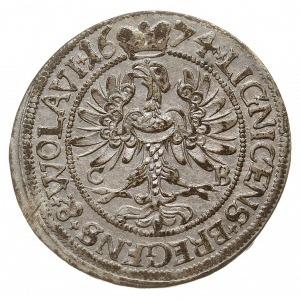 3 krajcary 1674, Brzeg, odmiana z dużymi literami C-B n...