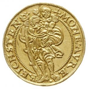 dukat 1551, Złoty Stok, Aw: Tarcza herbowa i napis, Rw:...