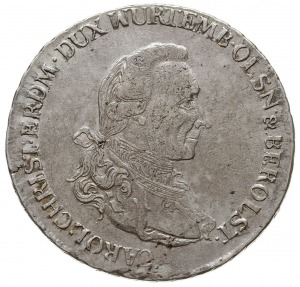 talar 1785 B, Wrocław, Aw: Popiersie z literą K u dołu ...