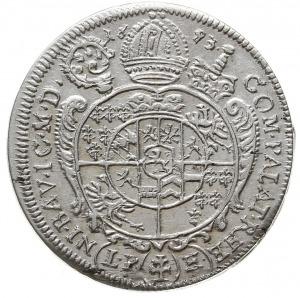 15 krajcarów 1693, Nysa, popiersie w obwódce bez zdobie...