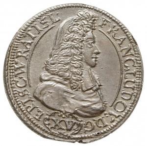 15 krajcarów 1694, Nysa, F.u.S. 2740, źle wycięty krąże...