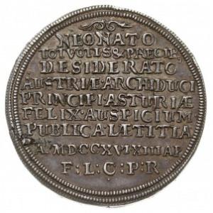 1/4 talara 1716, Nysa, wybite z okazji narodzin Leopold...