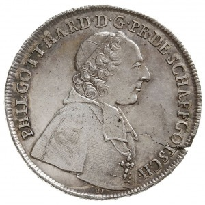 półtalar 1754, Nysa, Aw: Popiersie w prawo i napis woko...
