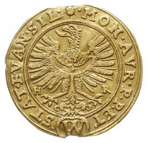 dukat 1635, Wrocław, Aw: Orzeł dolnośląski i napis woko...