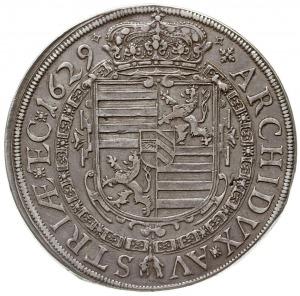 talar 1629, Kłodzko, Aw: Popiersie w prawo, niżej liter...