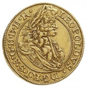 dukat 1694 MMW, Wrocław, Aw: Popiersie cesarza w prawo ...