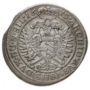 15 krajcarów 1675 SHS, Wrocław, F.u.S. 490, Herinek 101...