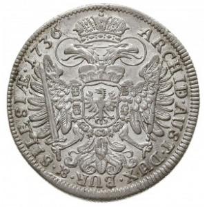 15 krajcarów 1736, Wrocław, F.u.S. 915, Herinek 650, ba...