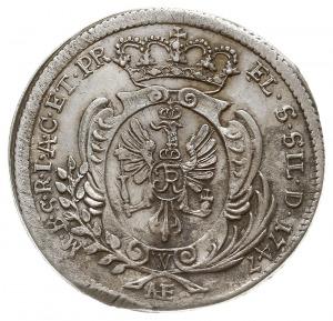 6 krajcarów 1747, Wrocław, Olding 299, F.u.S. 967, niec...