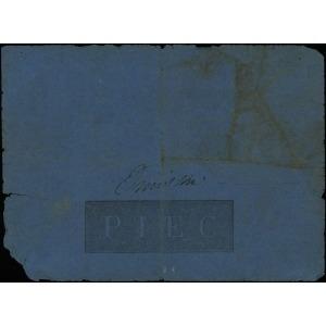 5 złotych 1824, numeracja 731017, podpisy komisarzy: Ma...