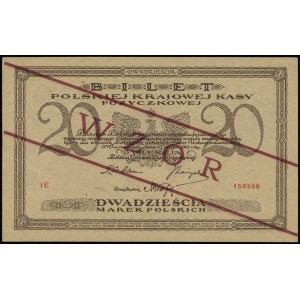 20 marek polskich 17.05.1919, seria IE, numeracja 15939...