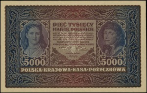 5.000 marek polskich 7.02.1920, seria II-R, numeracja 5...