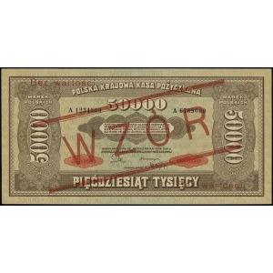 50.000 marek polskich 10.10.1922, seria A, numeracja 12...