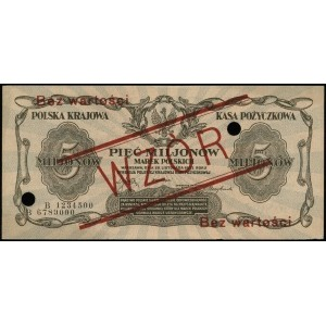 5.000.000 marek polskich 20.11.1923, seria B, numeracja...