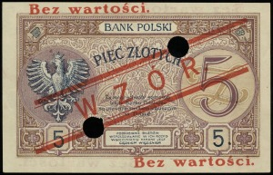 5 złotych 28.02.1919, seria 13.A, numeracja 021519, dod...