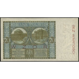 20 złotych 1.03.1926, seria V, numeracja 0245678, po ob...