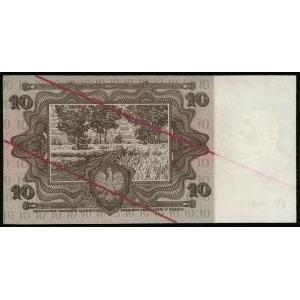 próbny druk 10 złotych 2.01.1928, seria A1, numeracja 0...