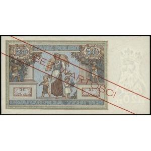 20 złotych 20.06.1931, seria AA, numeracja 1234567, na ...