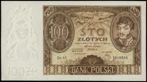 100 złotych 2.06.1932, seria AY, numeracja 2819939, na ...