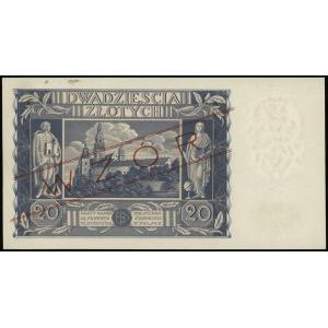 20 złotych 11.11.1936, seria AW, numeracja 1234567, cze...